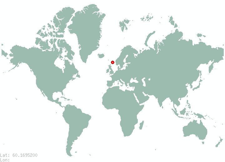Helsinki in world map