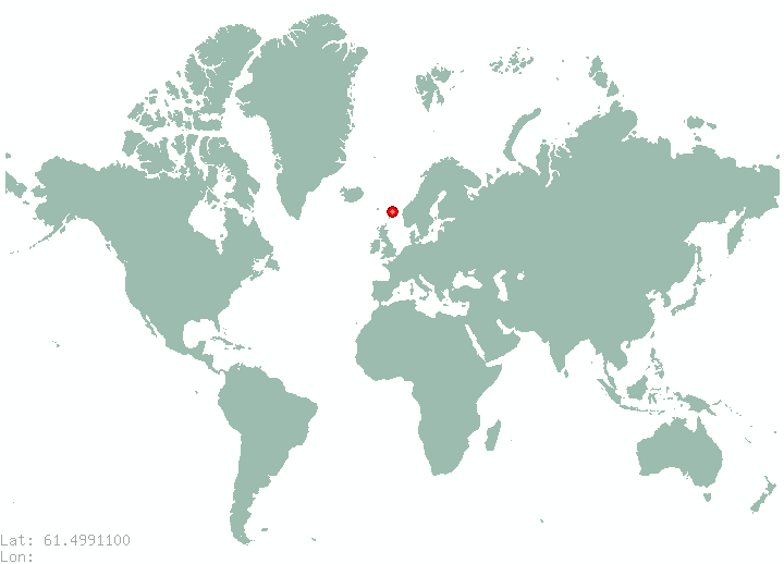 Tampere in world map